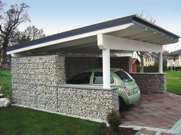 Gabion Fence Used for Privacy Wall, Garden Fence, Space