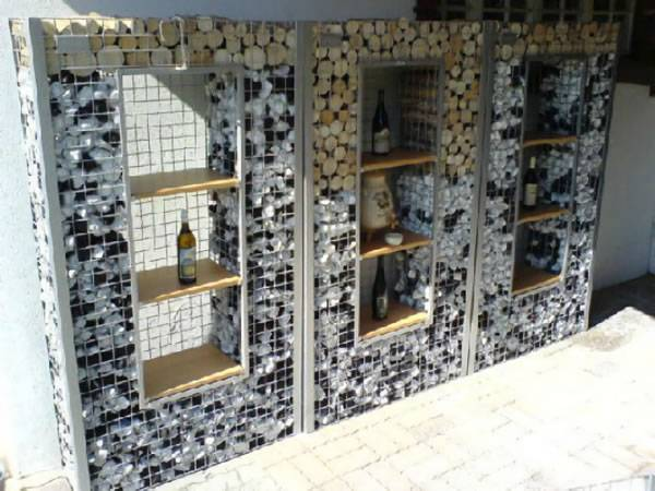Gabion Interior Designs Show Aesthetic Effect And Decorate